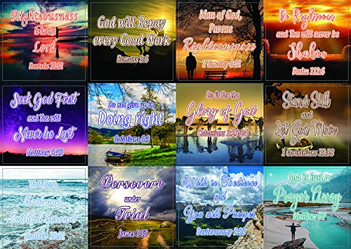Encouraging Religious Stickers - Righteousness & God's Rewards