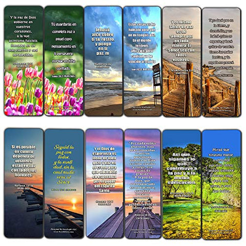 Spanish Peace Bible Verses Bookmarks