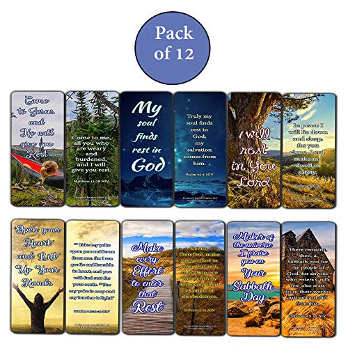Encouraging Scriptures Bookmarks About Rest and Renewal
