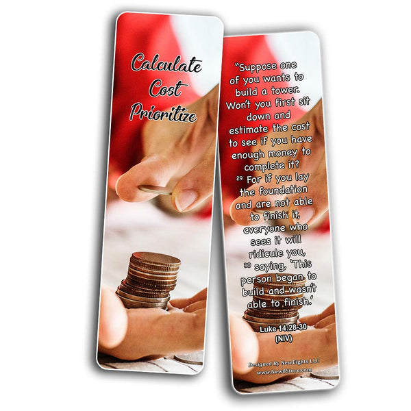 Christian Bookmarks for Biblical Financial Principles Series 4
