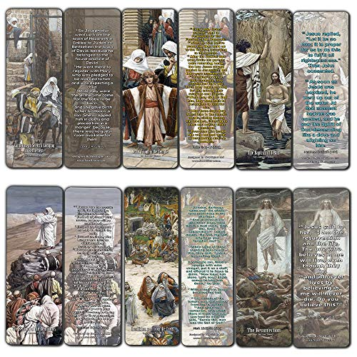 The Life of Christ Bookmarks (60 Pack) - Perfect Gift away for Sunday School and Ministries