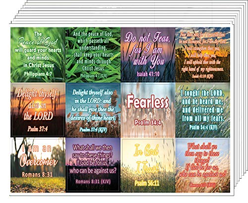Bible Verses to Soothe Your Soul Stickers (10-Sheet) - Encouraging Colorful Stickers