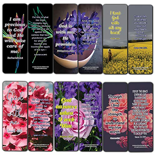 Christian Affirmations Bible Verses for Women Cards (12-Pack)