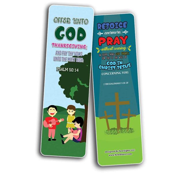 Top Bible Verses for Thanksgiving Bookmarks for Kids