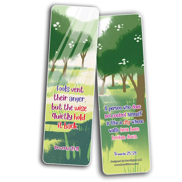 Bible Bookmarks for kids - Character Building Series 2