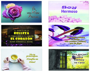Spanish Devotional Bible Verses for Women Postcards (30-Pack)