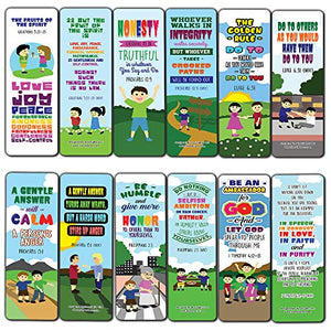 Top Bible Verses for Cultivating Good Character Bookmarks for Kids