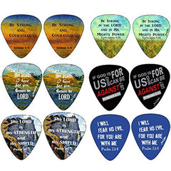 Christian Guitar Picks - Be Strong - 12 pack - Celluloid Medium