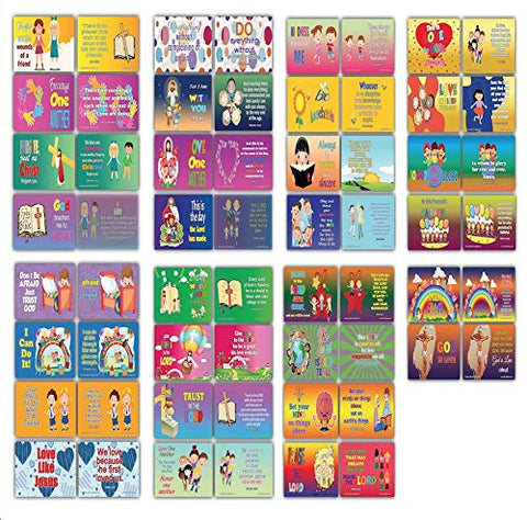 Daily Devotional Topical Bible Verses for Kids NIV Flashcards (30 cards x 4 set )