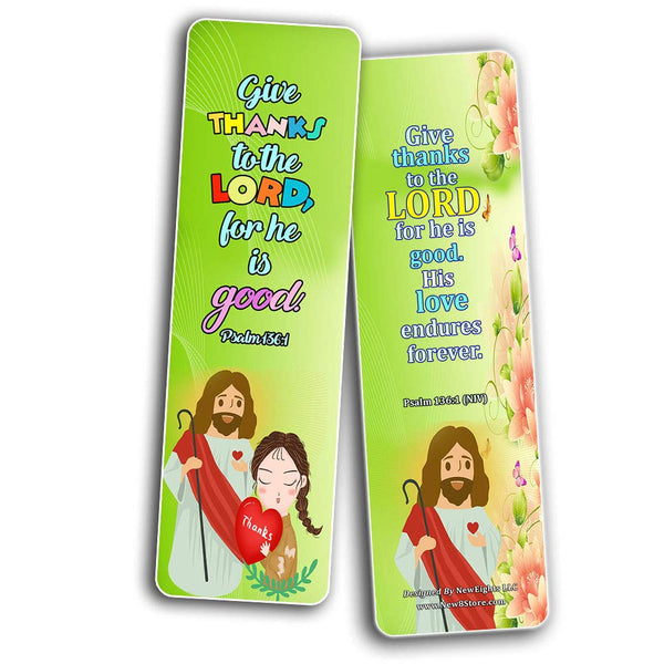 Thankful Bible Verses Bookmarks for Kids