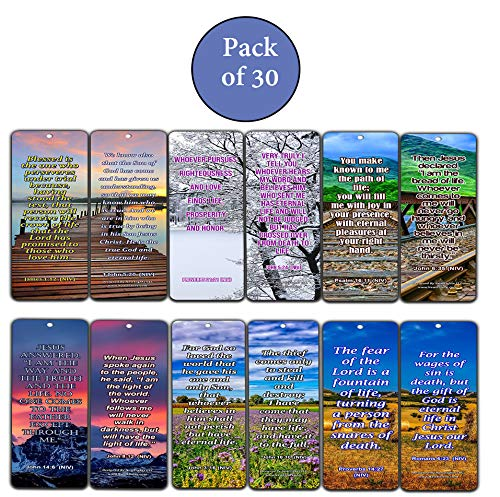 Life Bible Verses Bookmarks NIV