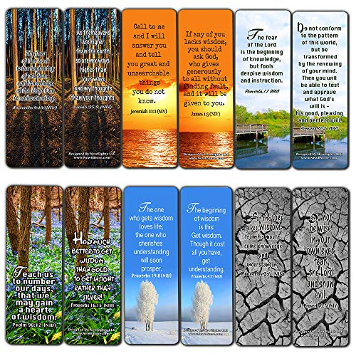 Wisdom Scriptures Cards Bookmarks (30-Pack)