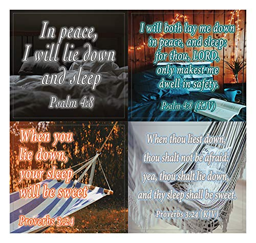 Bible Verses to Help You Sleep Stickers (10-Sheet) - Encouraging Colorful Stickers