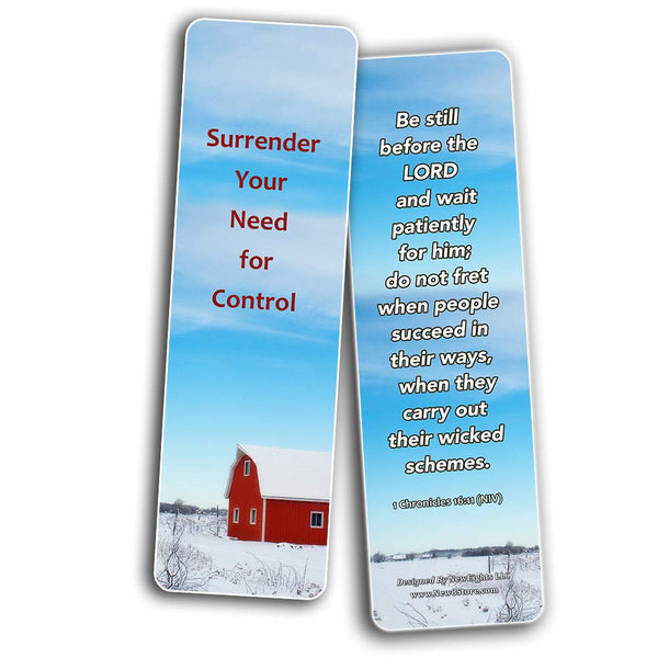 Ways to Surrender Control and Let God Handle Your Life Bookmarks