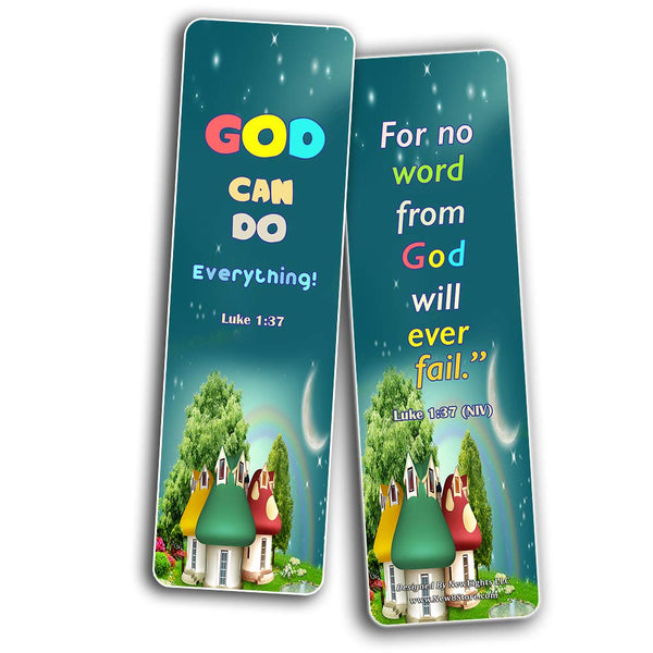 Powerful God Bible Verse Bookmarks for Kids
