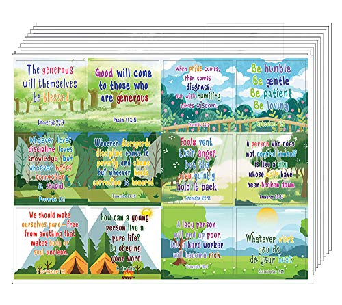 Christian Stickers for Kids (20-Sheet) - Devotional