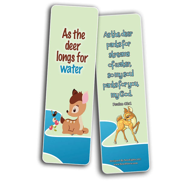 Encouraging Bible Verses Bookmarks for Kids - Animal Series 3
