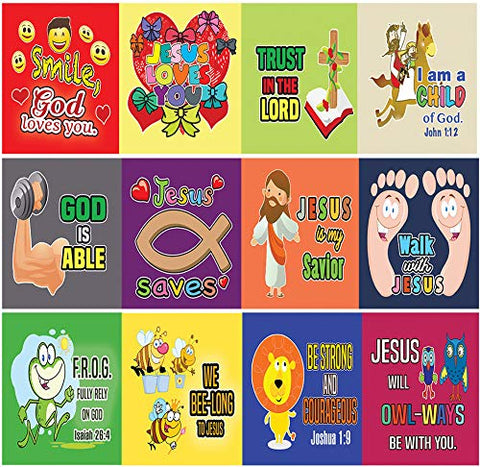Christian Stickers - Smile, God Loves You - (20 Sheets) - Perfect Give Away For Children Ministries