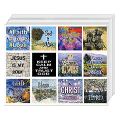 Christian Bible Verses Scriptures Planner Stickers - 20 Sheets