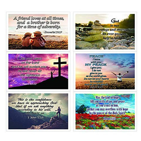 Christian Inspirational Popular Bible Verses Postcards (12-Pack)