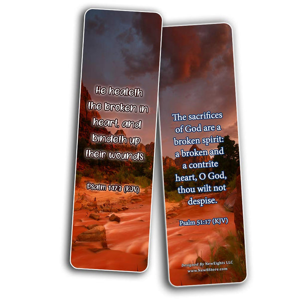 Uplifting Healing Scriptures For The Brokenhearted Bookmarks