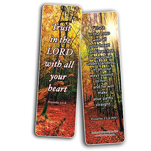 Step Out in Faith Memory Verses Bookmarks (60-Pack) - Great Giveaways for ministries and Sunday Schools