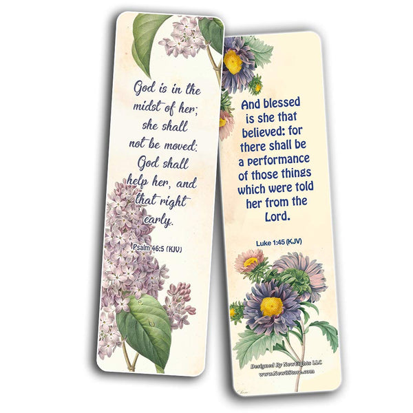 Flower Bookmarks KJV Scriptures Series 2