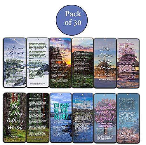 Hymn Bookmarks Series 1 - Amazing Grace (30-Pack) - Great Collection of Hymns Perfect for Gift Giving