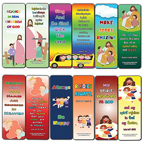Popular Bible Verses about Rejoice Bookmarks Cards