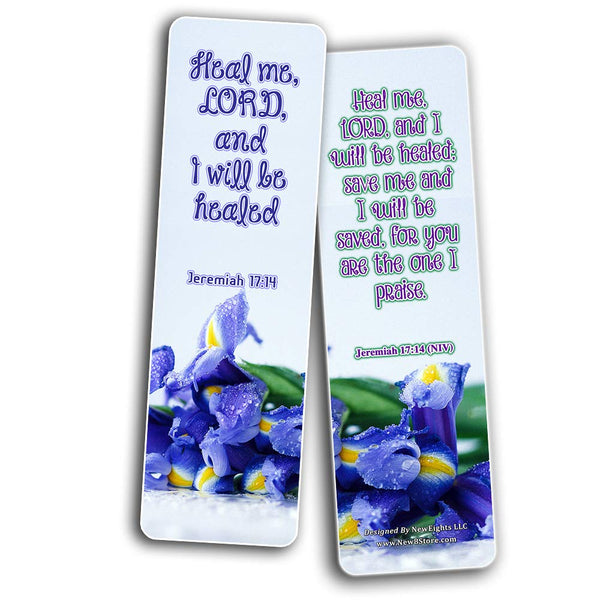 Scriptures Bookmarks - Bible Verses about Healing Scriptures and Comforting Bible Verses for Illness