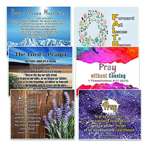 NewEights Prayer Postcards Christian Prayer Cards  - War Room Decor - Gift Ideas for Sunday School, Youth Group, Church Camp, Bible Study, Cell Group - Easter Day, Thanksgiving, Christmas