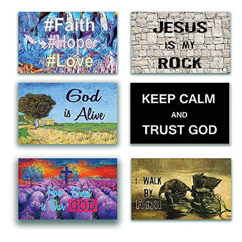 NewEights Christian Inspirational Bible Verses Poster - A3 Size -How Great is Our God Theme - War Room Home Decor (12 Pack) - Thanksgiving Christmas Stocking Stuffers