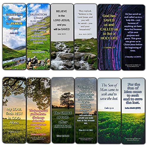 Redemption of Christ Scriptures Bookmarks (60 Pack) - Perfect Gift away for Sunday School and Ministries - Reverence Bible Texts VBS Sunday School Easter Baptism Thanksgiving Christmas Rewards