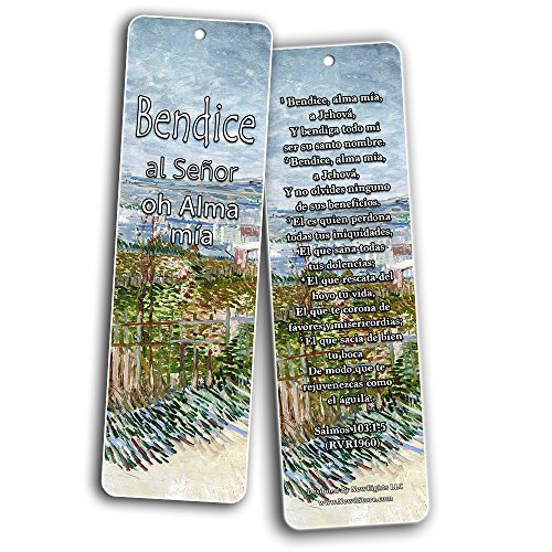Spanish Christian Bookmarks - In Christ Alone (30-Pack) - Christian Encouragement Gifts for Men Women Teens Kids - Stocking Stuffers Birthday Baptism Ministry
