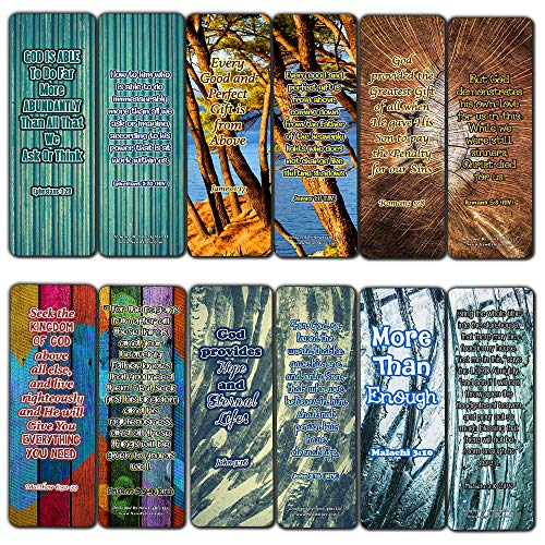 Bookmarks About God Advise on Abundant Providence (60 Pack) - Perfect Gift away for Sunday School and Ministries - VBS Sunday School Easter Baptism Thanksgiving Christmas Rewards Encouragement Gifts