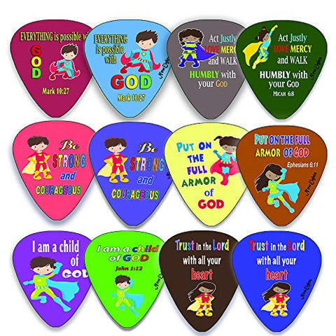 Superhero Guitar Picks for Kids