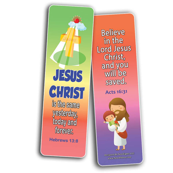 Short Bible Verses for Kids Bookmarks