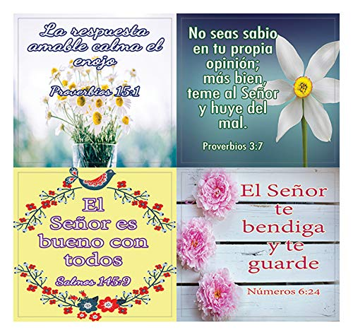 Spanish Christian Stickers for Women Series 2 (20-Sheet) - Perfect Giftaway for Women's Ministry