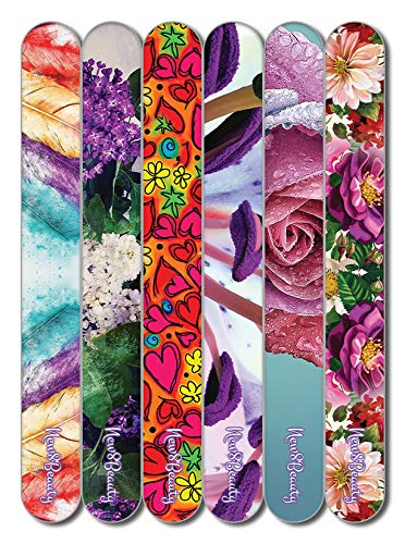 Spanish Christian Emery Board - Virtuous Woman (24-Pack) -150/150 Grit Colorful Nail File - Nail Spa Party Favors Supplies - Best Stocking Stuffers Gift for Girls Women Kids Mom Girlfriend -