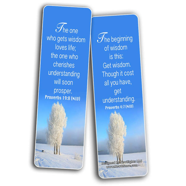 Christian Bookmarks Cards (60-Pack)- Wisdom Bible Verses - Christian Gifts for Adults Men Women Teens Kids Boys Girls - Church Supplies