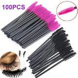 Disposable Eyelash Mascara Wands Brush Set Series By New8Beauty (Pink & Black 100Pcs)