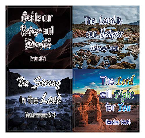 Encouraging Religious Stickers - Trust in God's Protection and Renewal (5 Sheets) - Assorted Mega Pack of Inspirational Stickers