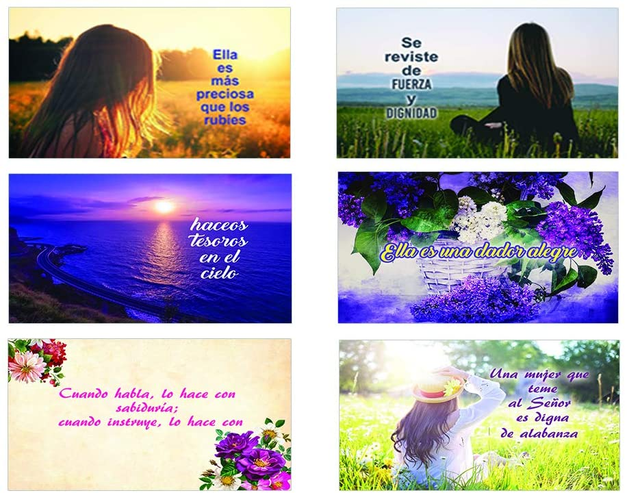 Spanish Bible Verses About Virtuous Woman Postcards (60-Pack)