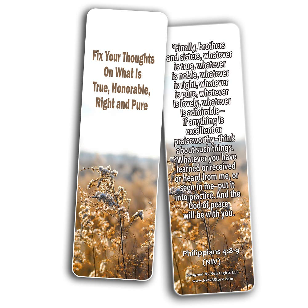 Bible Verses Bookmarks About Focus on God to Empty Out Negative Thoughts