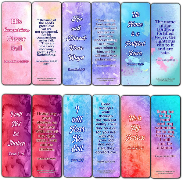 Popular Bible Verses Bookmarks Series 2 (60 Pack) - Perfect Gift away for Sunday School and Ministries - Reverence Bible Texts VBS Sunday School Easter Baptism Thanksgiving Christmas Rewards