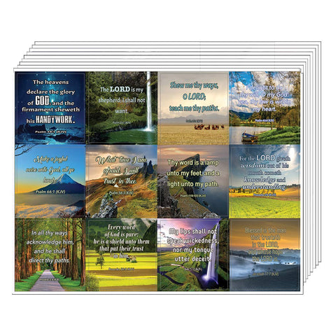 Short Bible Scriptures Stickers (10 Sheets)