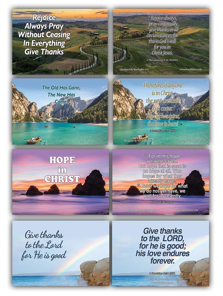Perfect for Daily Bible Study NewEights 60-Pack Daily Devotional Topical Bible Verses NIV Flashcards