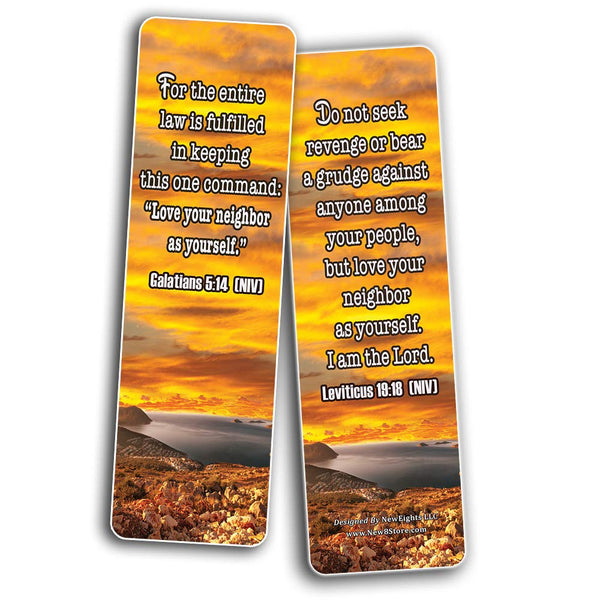 Christian Bookmarks Cards - Love One Another