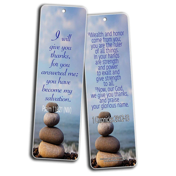 Thanksgiving Gratitude Bible Verses Bookmarks Cards (60-Pack)