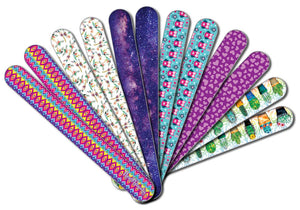 New8Beauty Emery Board Colorful (24-Pack) - For Manicure Pedicure - Keep Your Fingernails and Toenails in Tip-top Shape - Great Stocking Stuffers